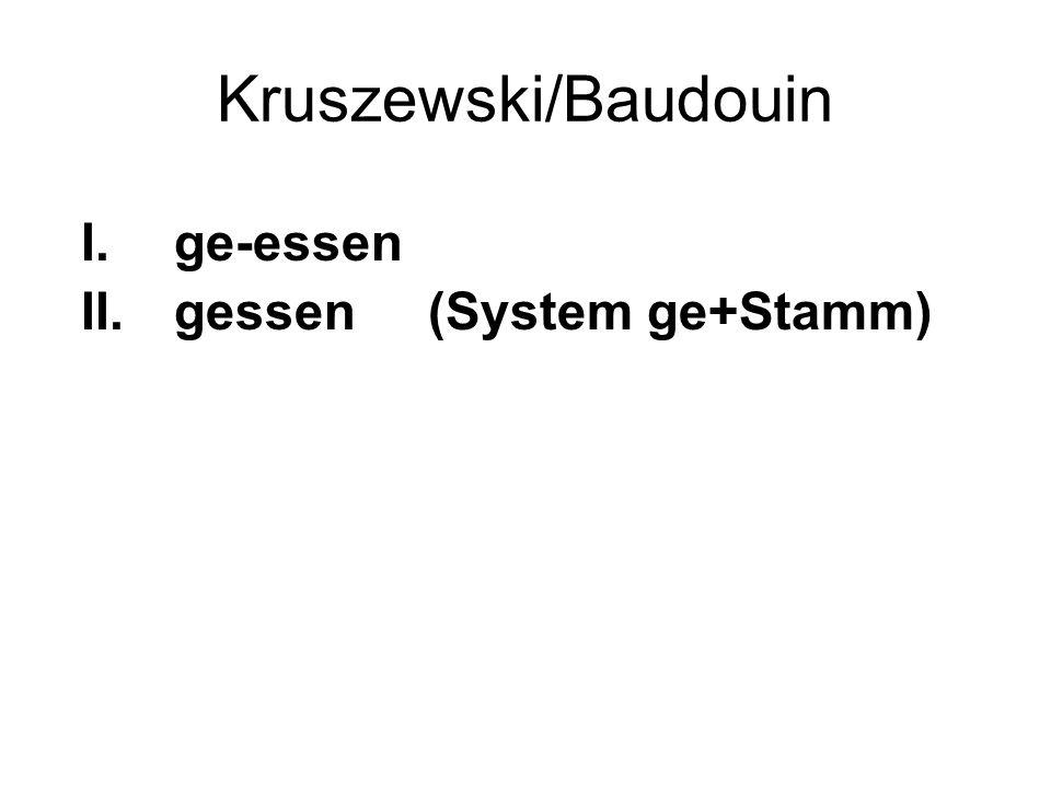 Kruszewski/Baudouin ge-essen gessen (System ge+Stamm)