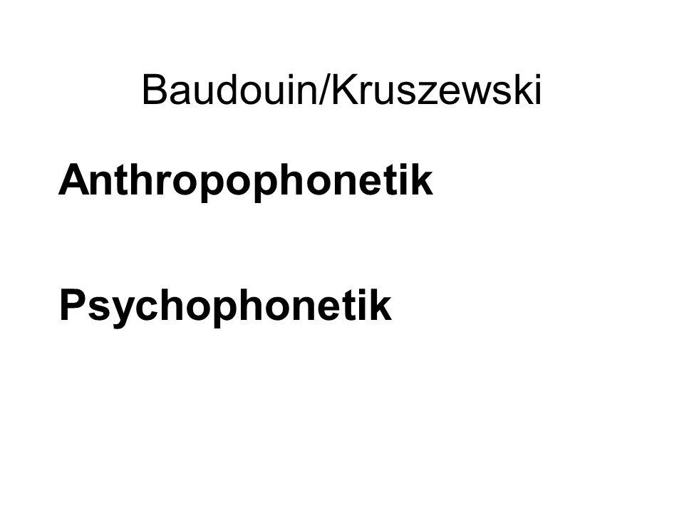 Baudouin/Kruszewski Anthropophonetik Psychophonetik