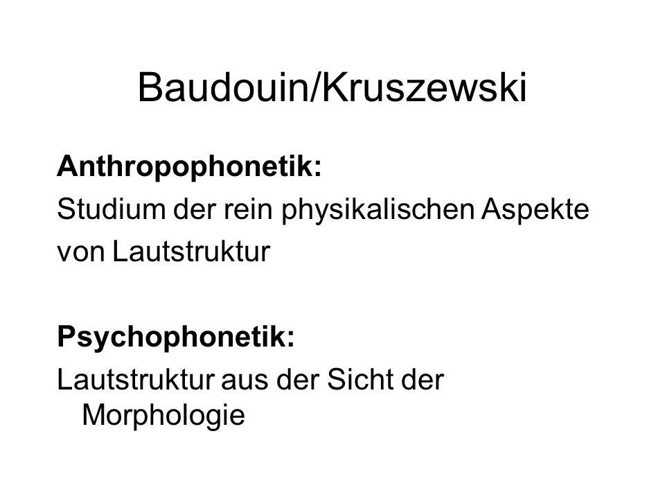 Baudouin/Kruszewski Anthropophonetik: