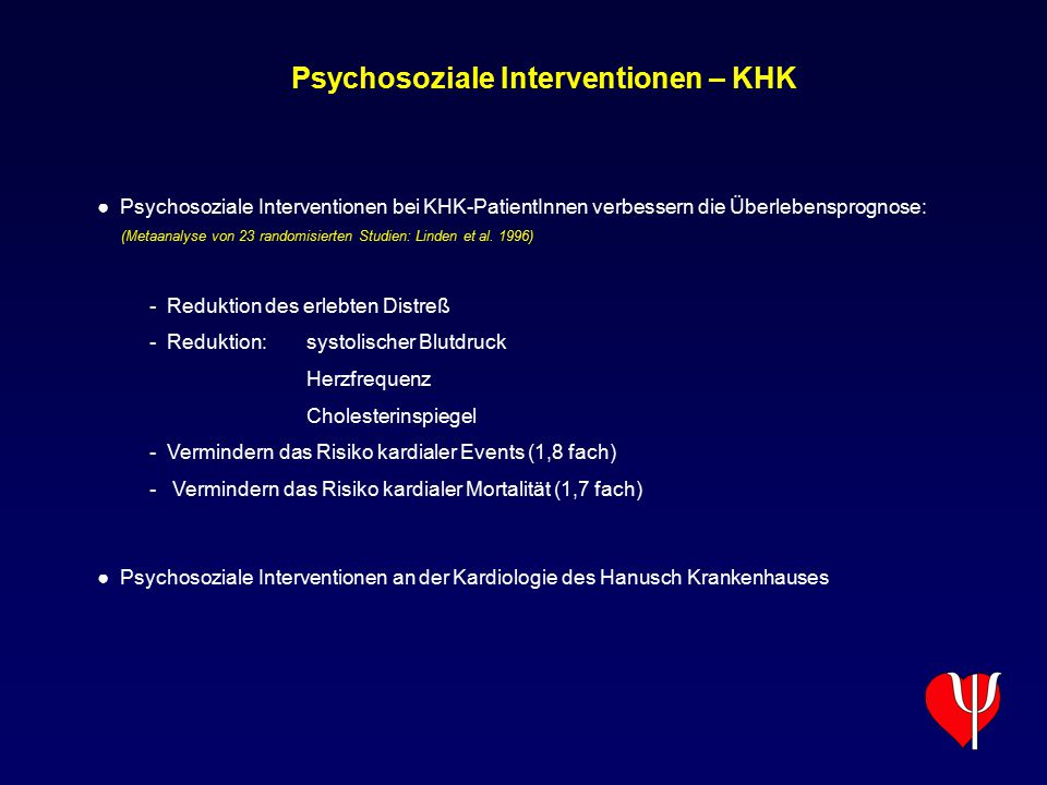 Psychosoziale Interventionen – KHK