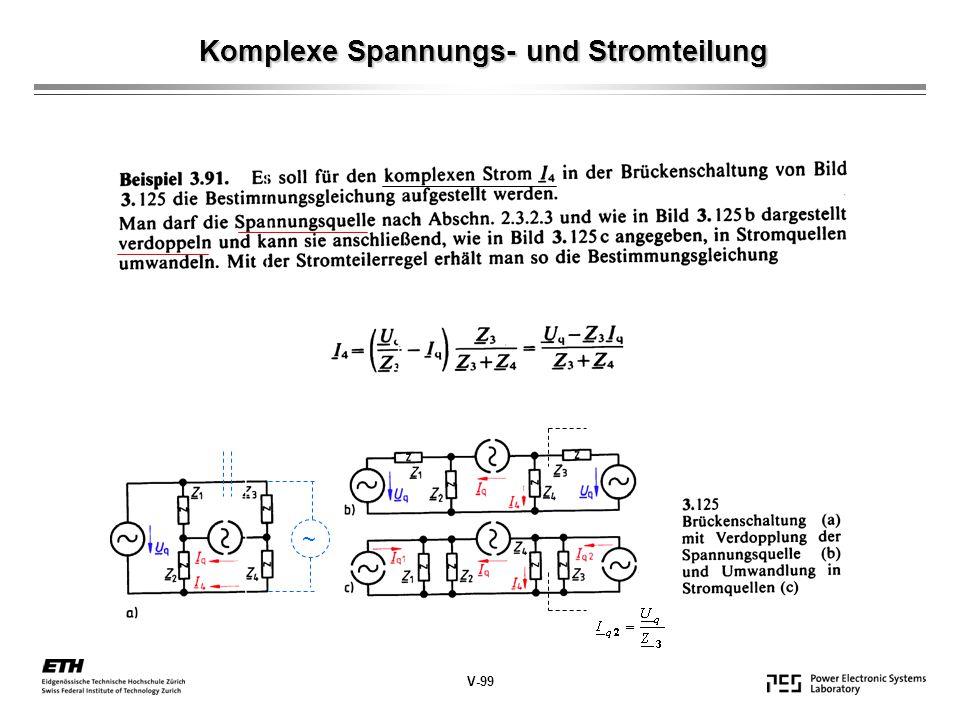 Komplexe Spannungs- und Stromteilung