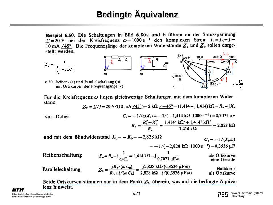 Bedingte Äquivalenz Ia, Ib ! ! V-87