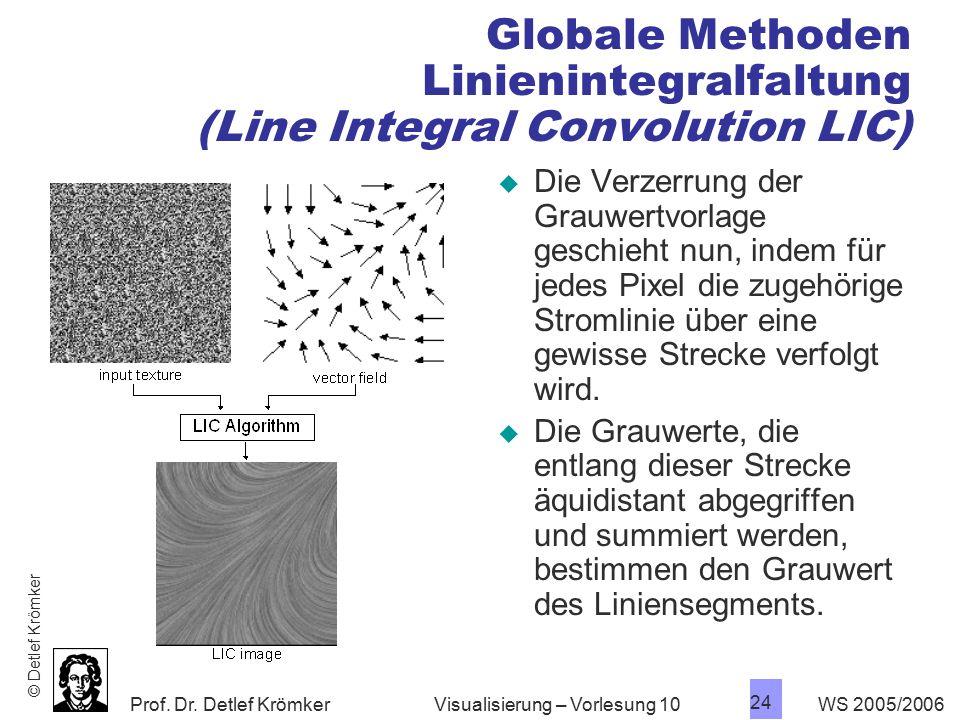 Globale Methoden Linienintegralfaltung (Line Integral Convolution LIC)
