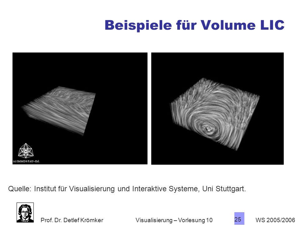 Beispiele für Volume LIC