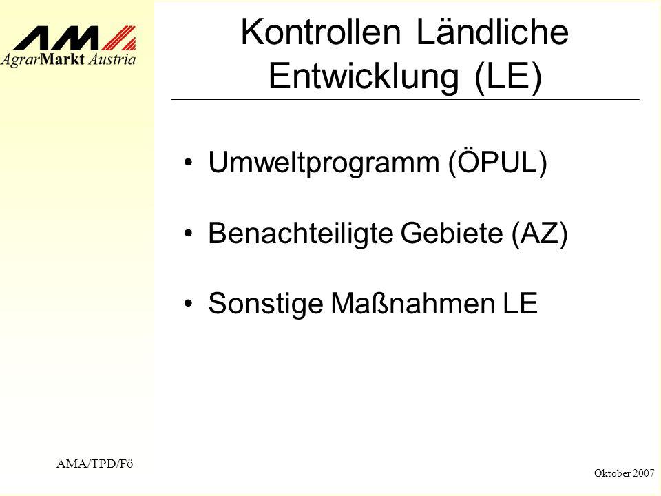 Kontrollen Ländliche Entwicklung (LE)