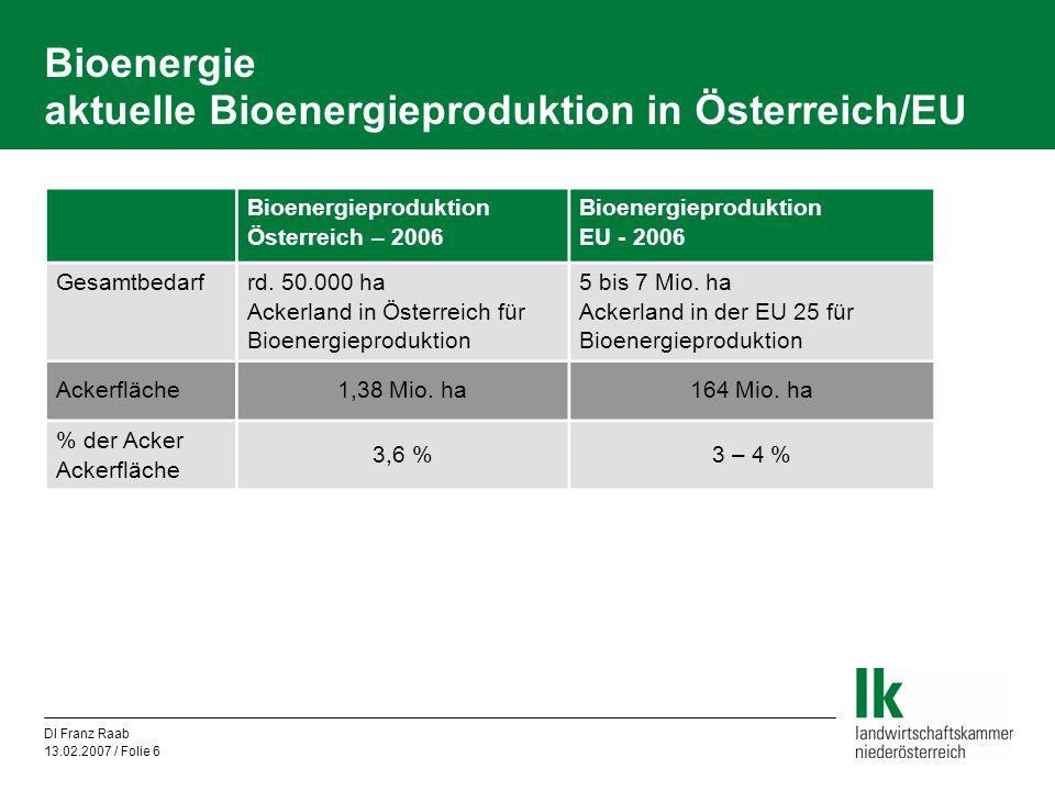 Bioenergie aktuelle Bioenergieproduktion in Österreich/EU