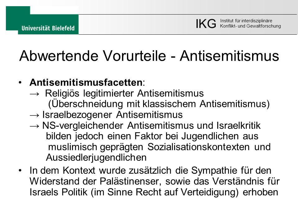 Abwertende Vorurteile - Antisemitismus