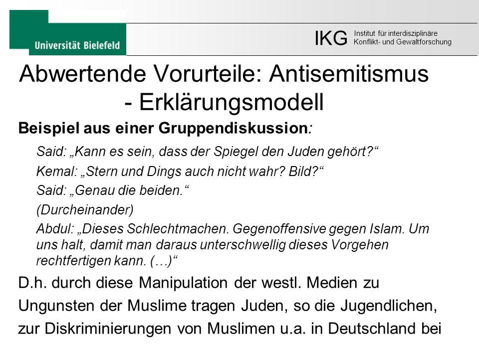 Abwertende Vorurteile: Antisemitismus - Erklärungsmodell