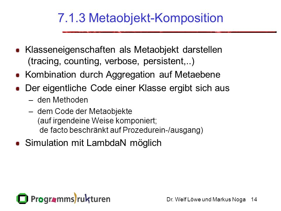 7.1.3 Metaobjekt-Komposition
