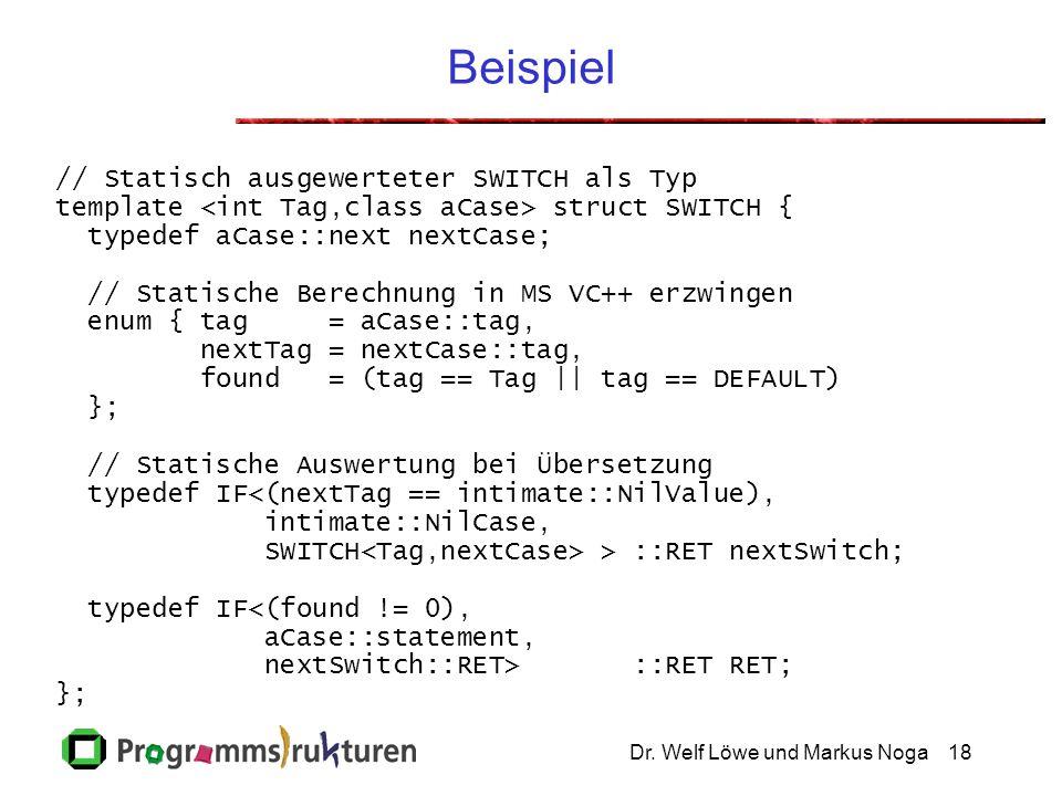 Beispiel // Statisch ausgewerteter SWITCH als Typ