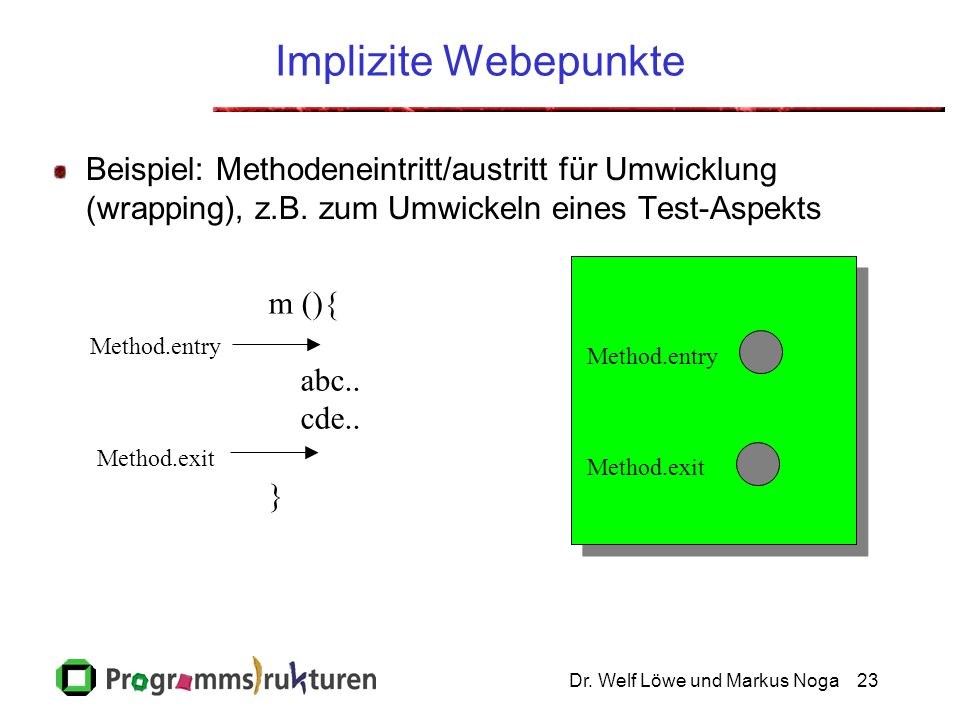 Implizite Webepunkte Click to add notes