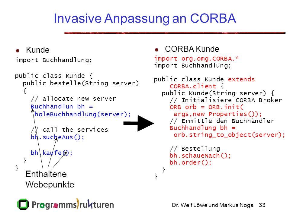 Invasive Anpassung an CORBA