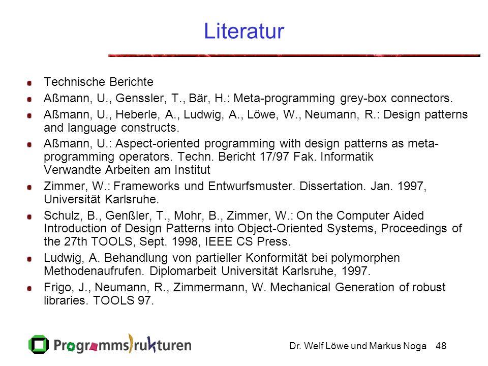 Literatur Click to add notes Technische Berichte