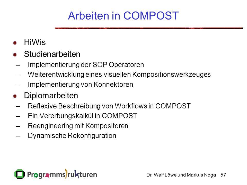 Arbeiten in COMPOST HiWis Studienarbeiten Diplomarbeiten