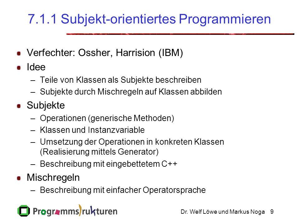 7.1.1 Subjekt-orientiertes Programmieren