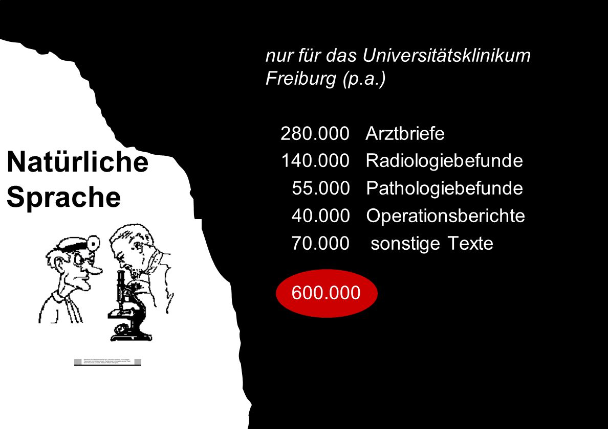 Natürliche Sprache nur für das Universitätsklinikum Freiburg (p.a.)