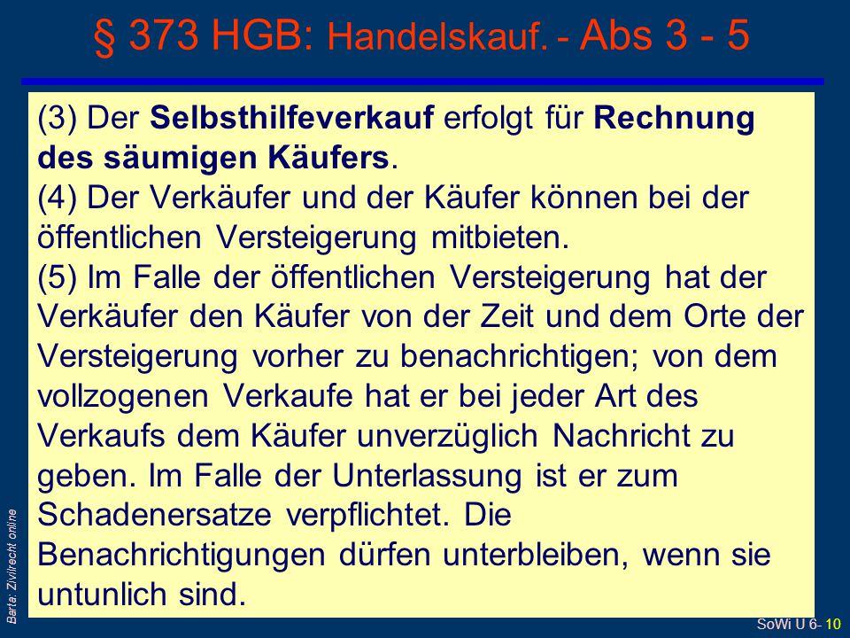 § 373 HGB: Handelskauf. - Abs 3 - 5