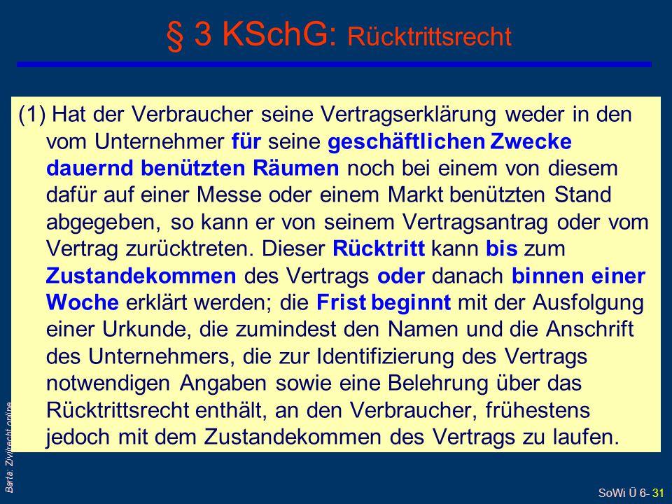 § 3 KSchG: Rücktrittsrecht