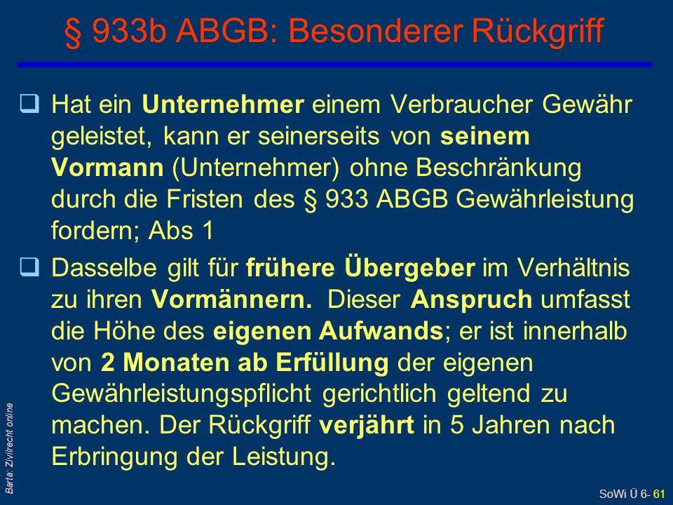 § 933b ABGB: Besonderer Rückgriff