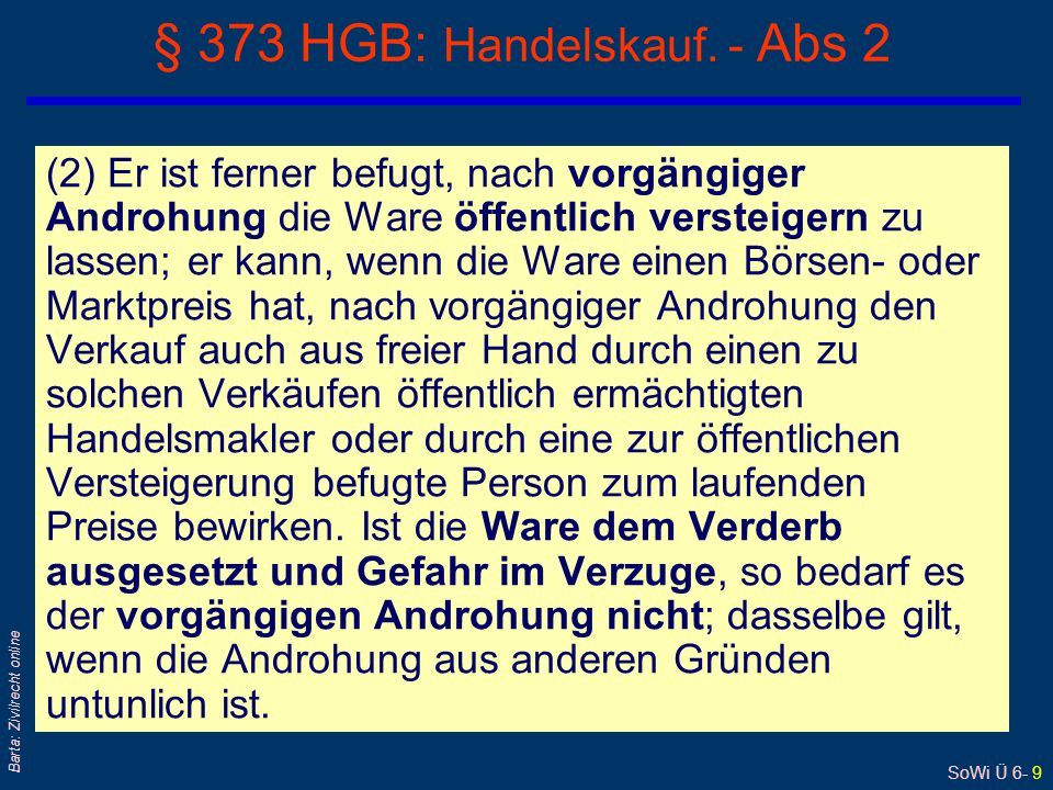 § 373 HGB: Handelskauf. - Abs 2
