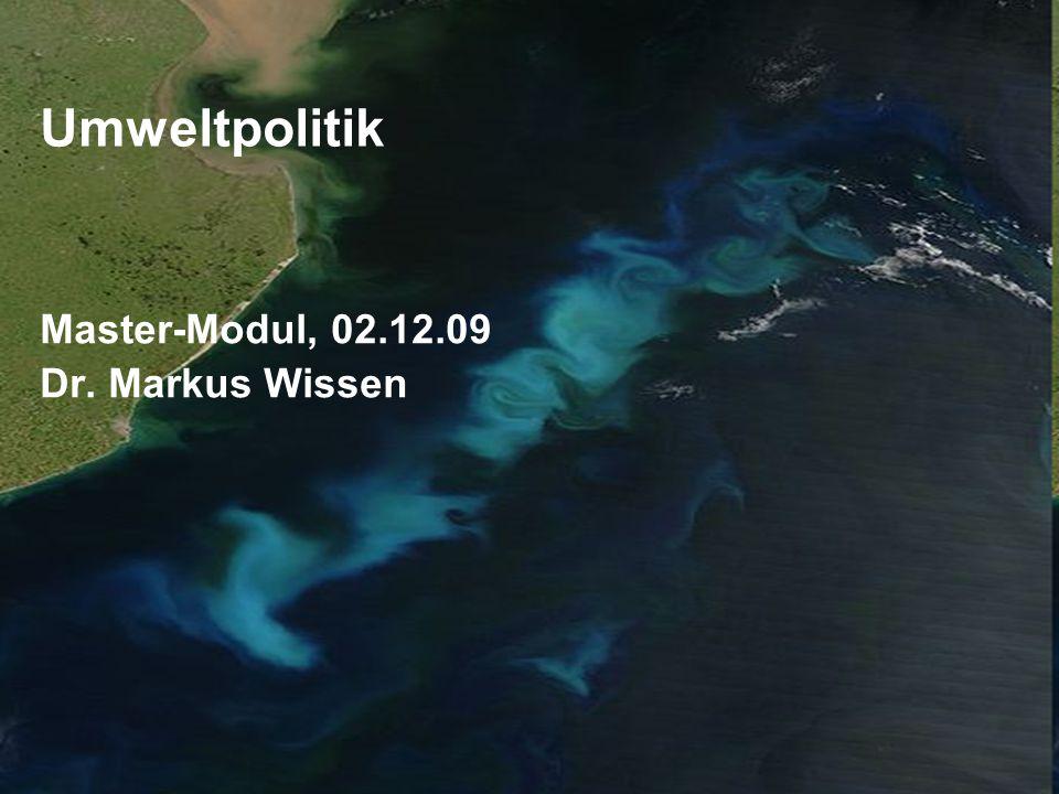Master-Modul, 02.12.09 Dr. Markus Wissen