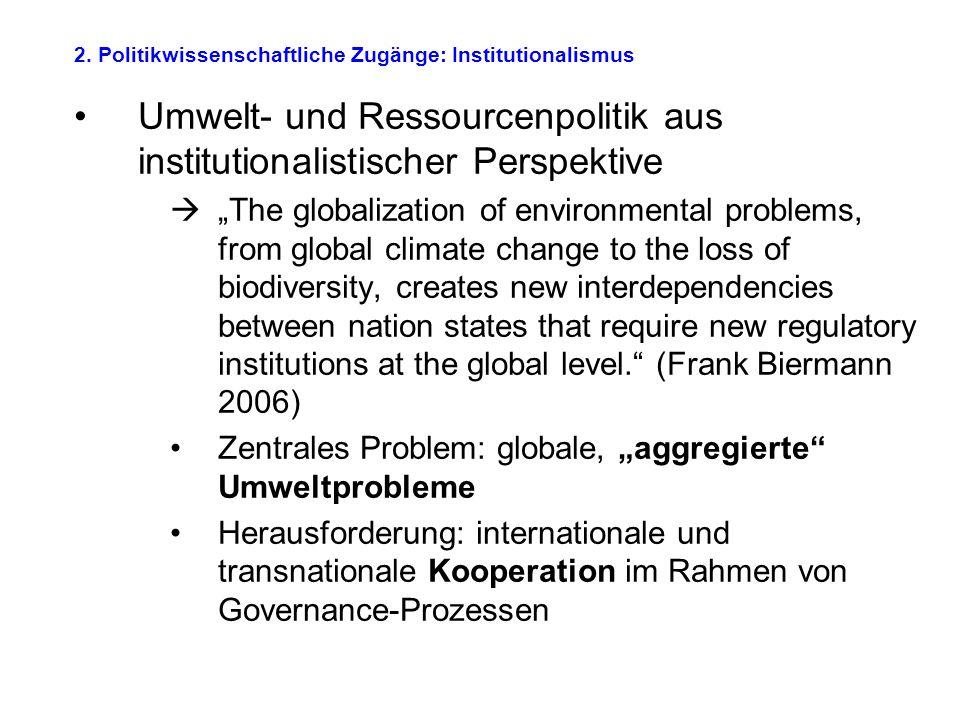 2. Politikwissenschaftliche Zugänge: Institutionalismus