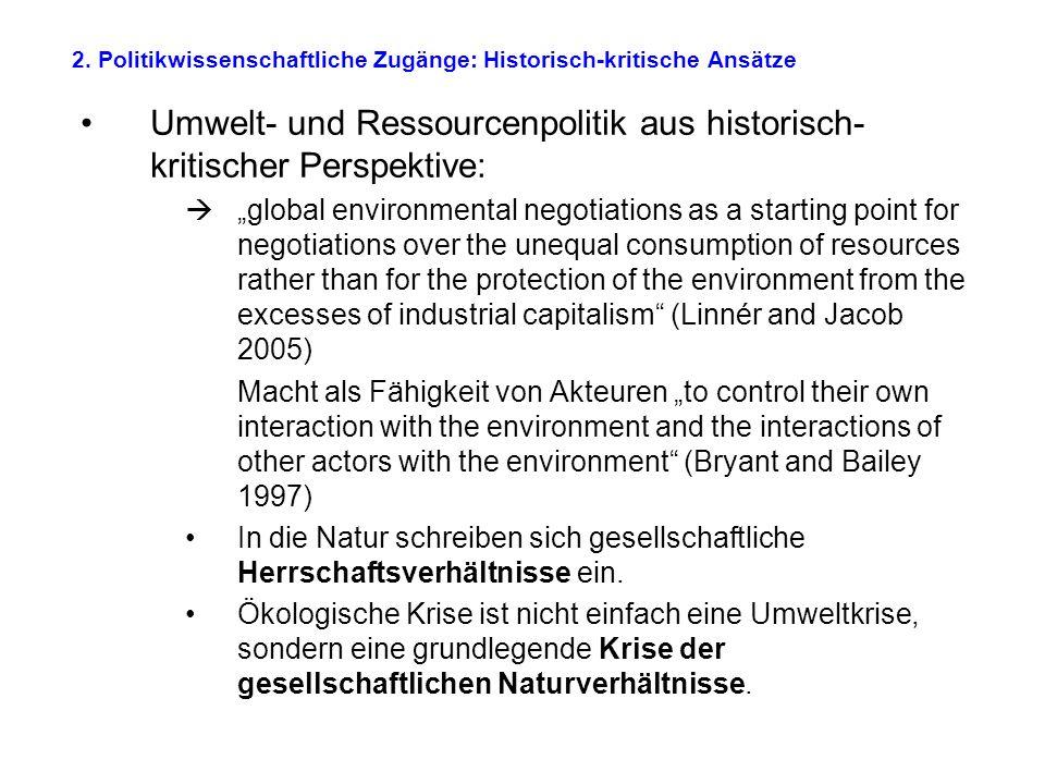 2. Politikwissenschaftliche Zugänge: Historisch-kritische Ansätze
