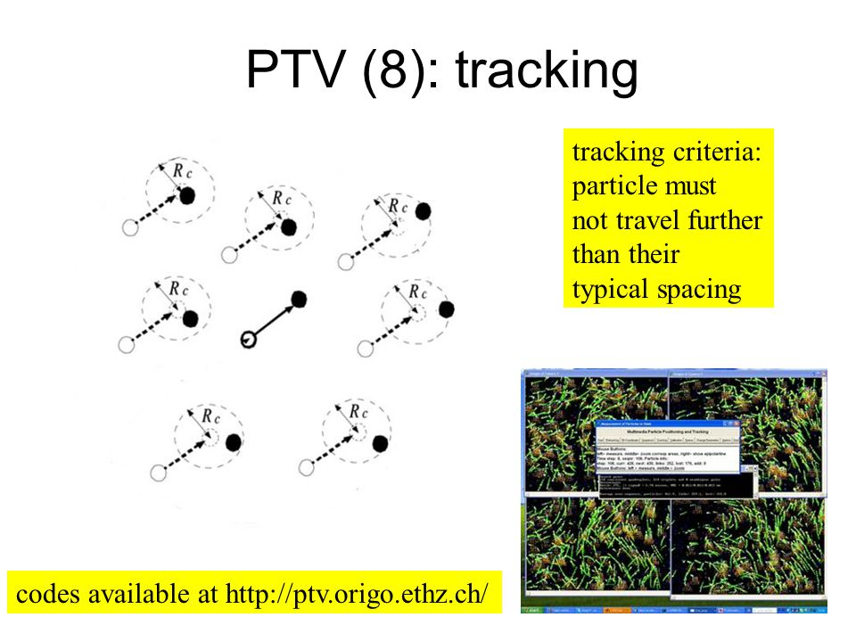 PTV (8): tracking tracking criteria: particle must not travel further