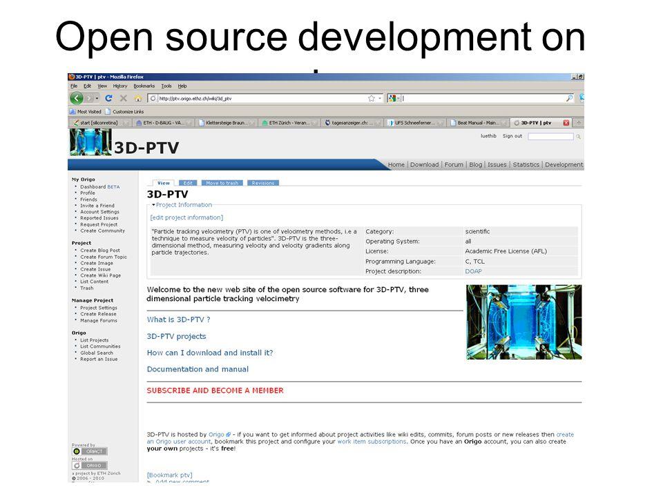 Open source development on origo