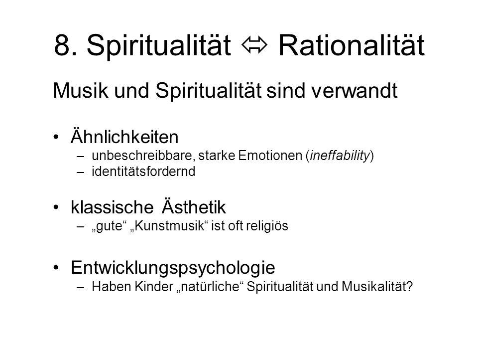 8. Spiritualität  Rationalität