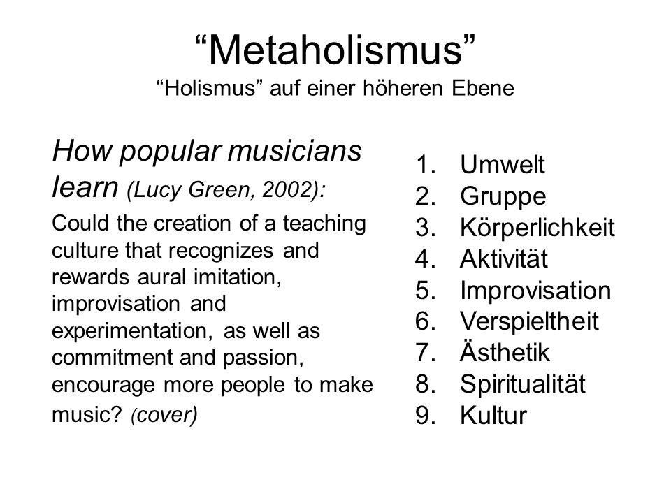 Metaholismus Holismus auf einer höheren Ebene
