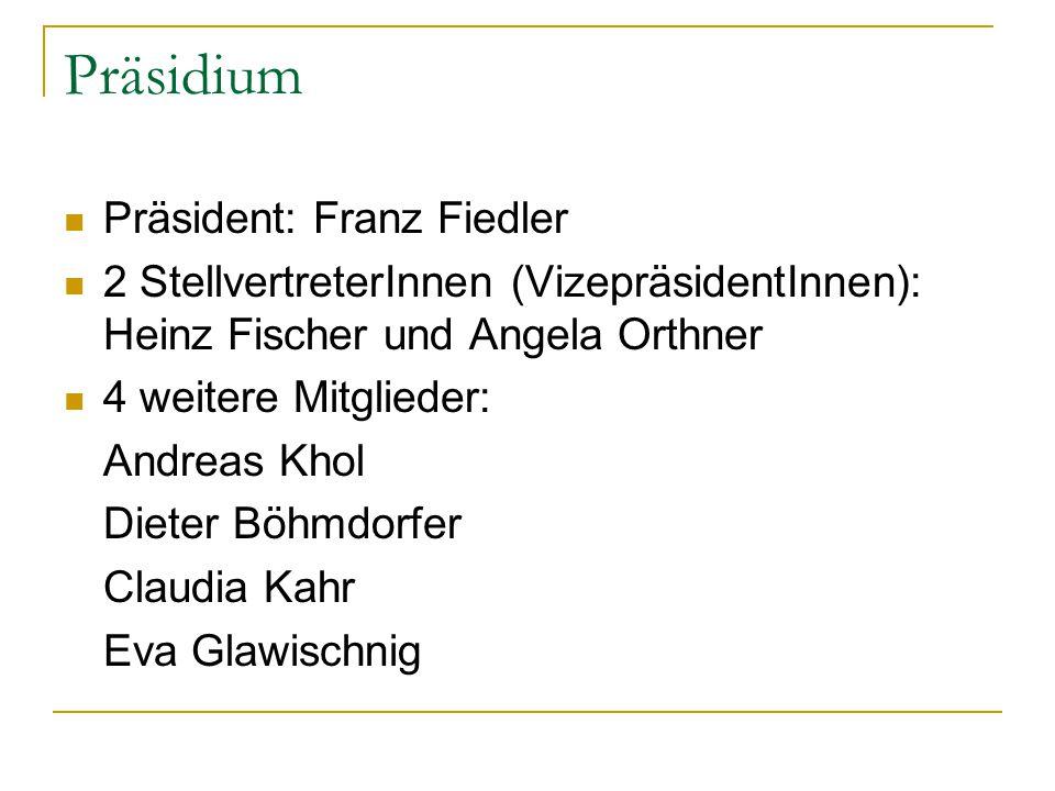 Präsidium Präsident: Franz Fiedler