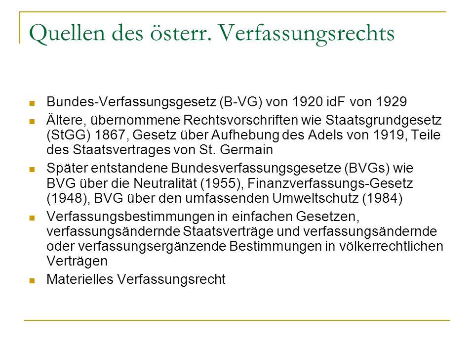 Quellen des österr. Verfassungsrechts