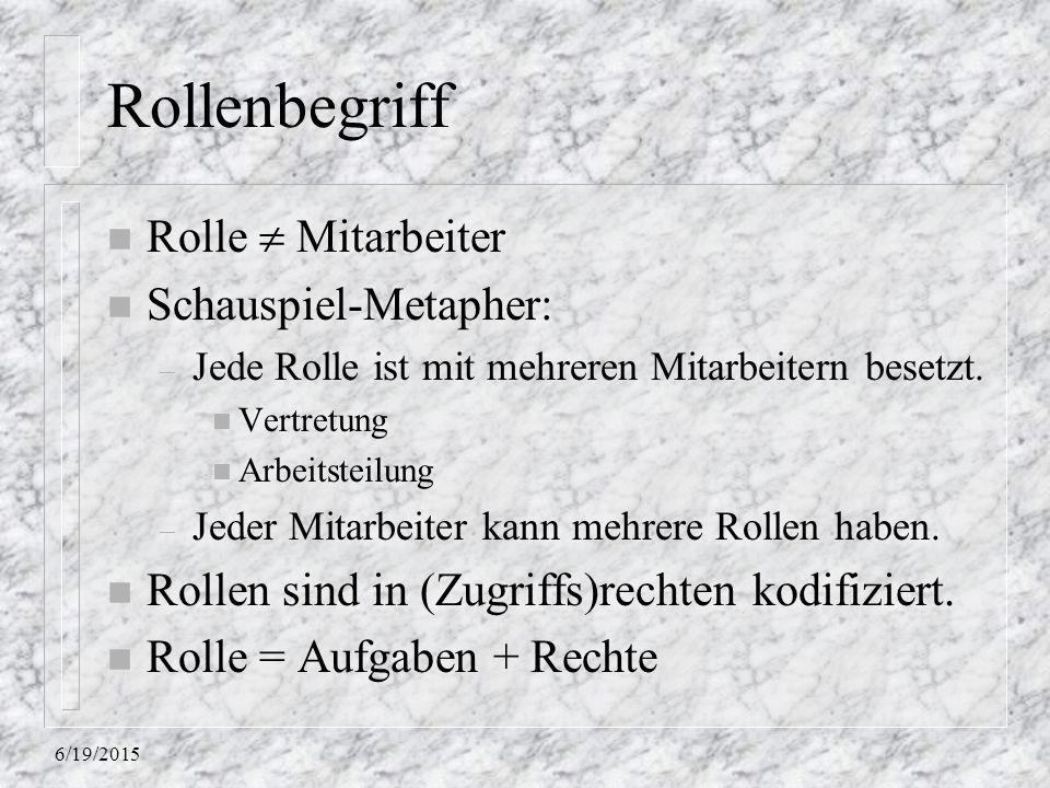 Rollenbegriff Rolle  Mitarbeiter Schauspiel-Metapher:
