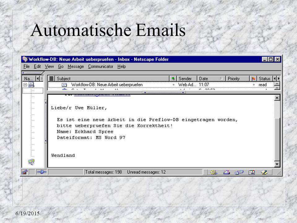 17.04.2017 Automatische Emails 4/17/2017