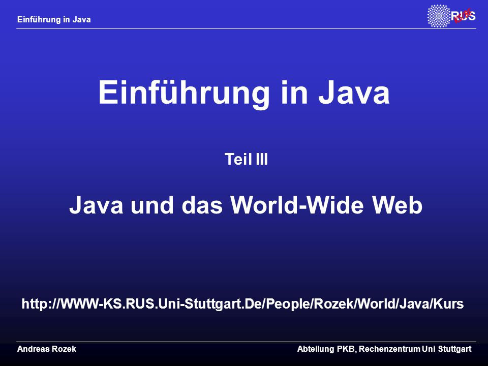 Java und das World-Wide Web