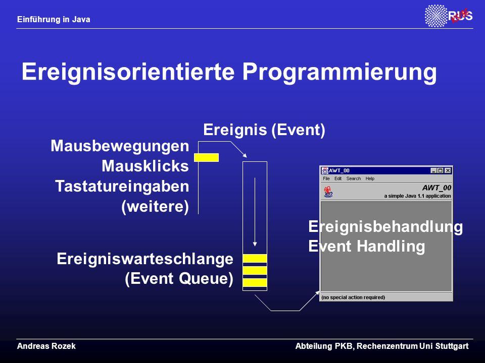 Ereignisorientierte Programmierung