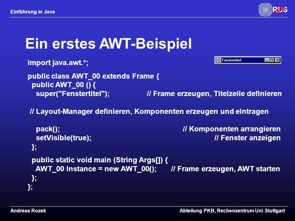 Ein erstes AWT-Beispiel