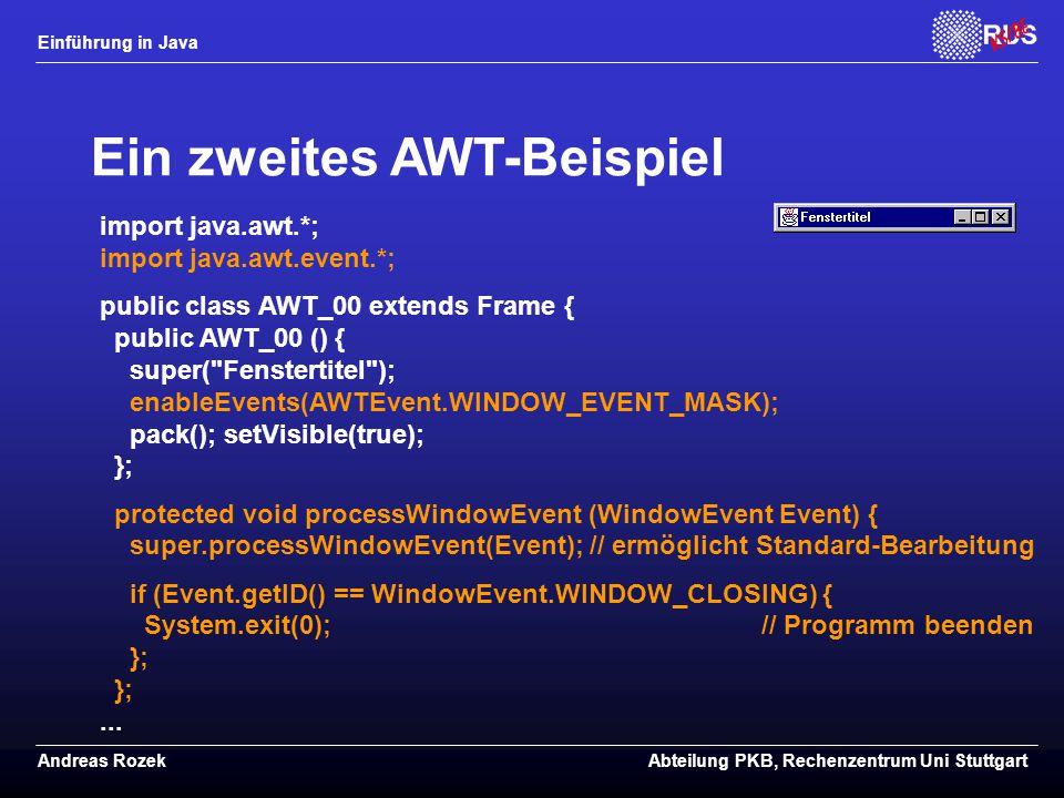 Ein zweites AWT-Beispiel