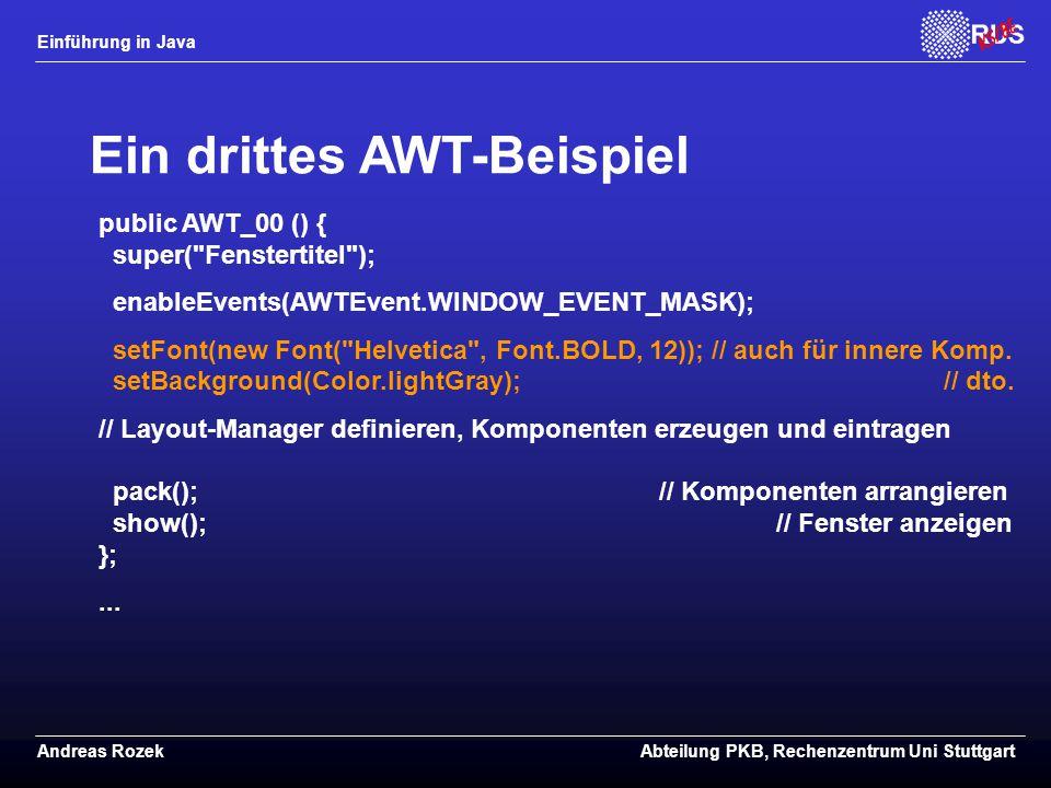 Ein drittes AWT-Beispiel
