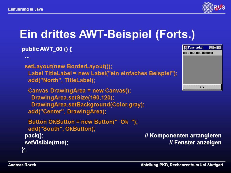 Ein drittes AWT-Beispiel (Forts.)