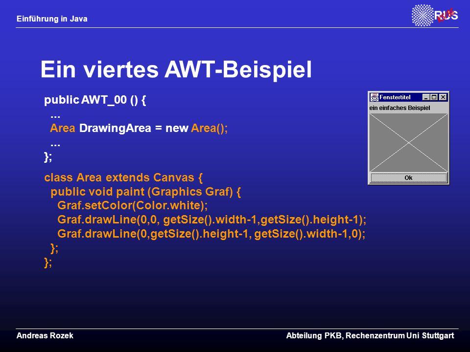 Ein viertes AWT-Beispiel