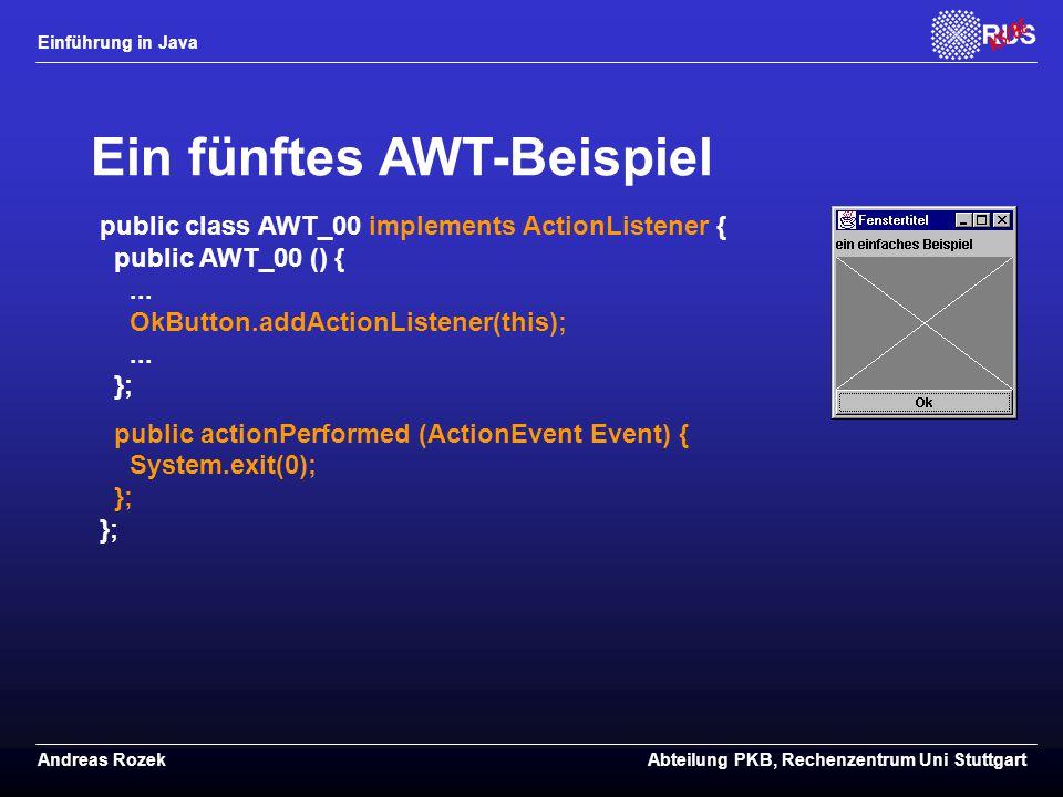 Ein fünftes AWT-Beispiel