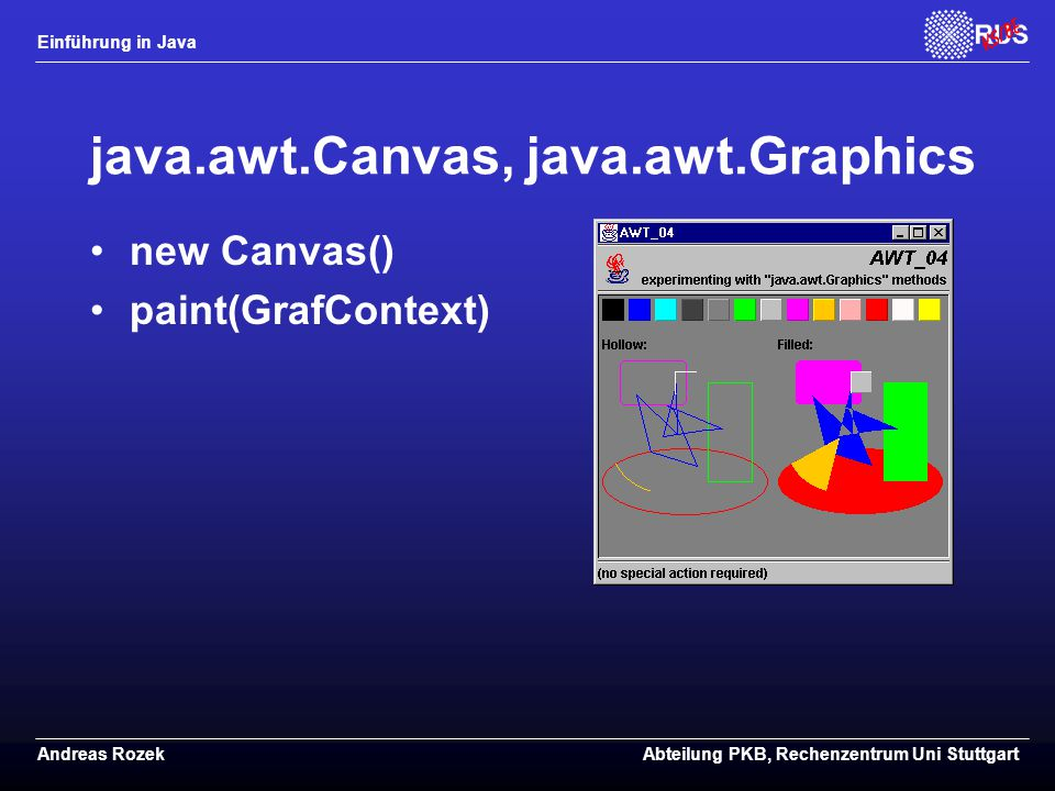 java.awt.Canvas, java.awt.Graphics