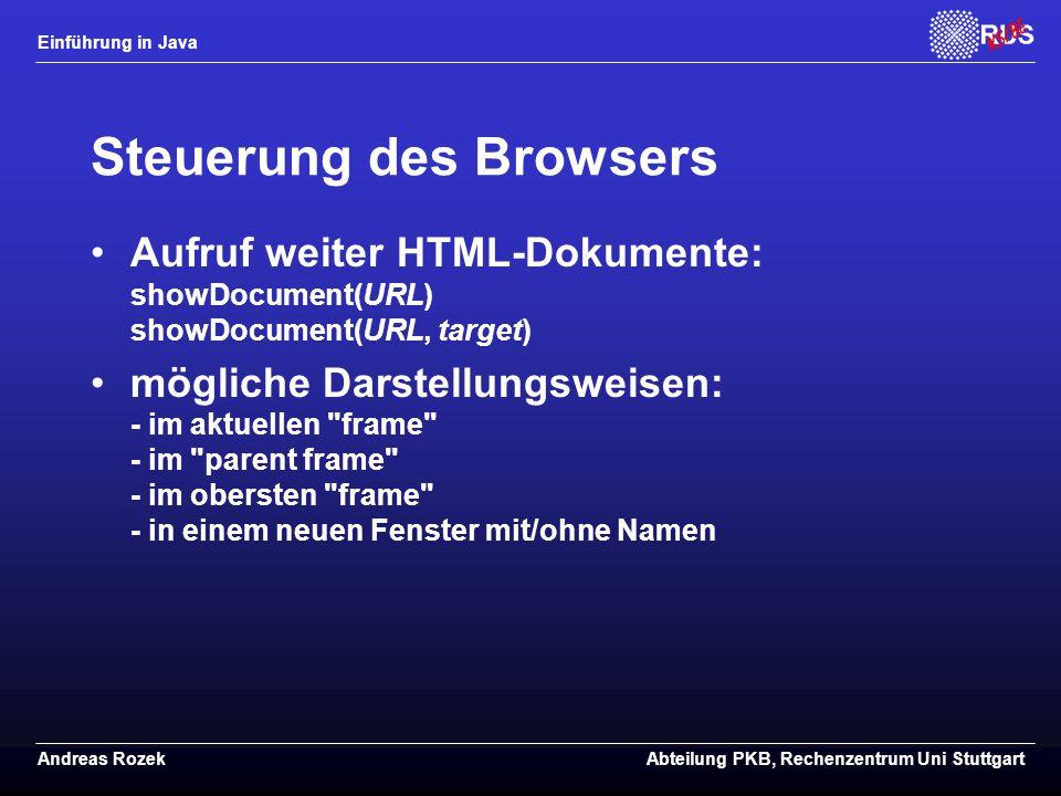 Steuerung des Browsers