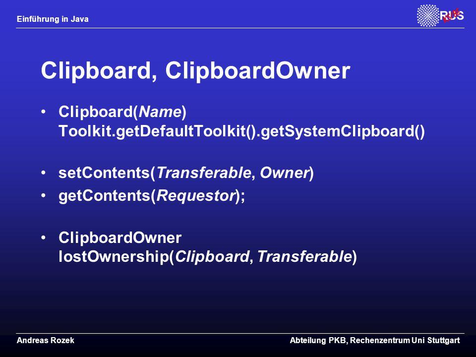 Clipboard, ClipboardOwner