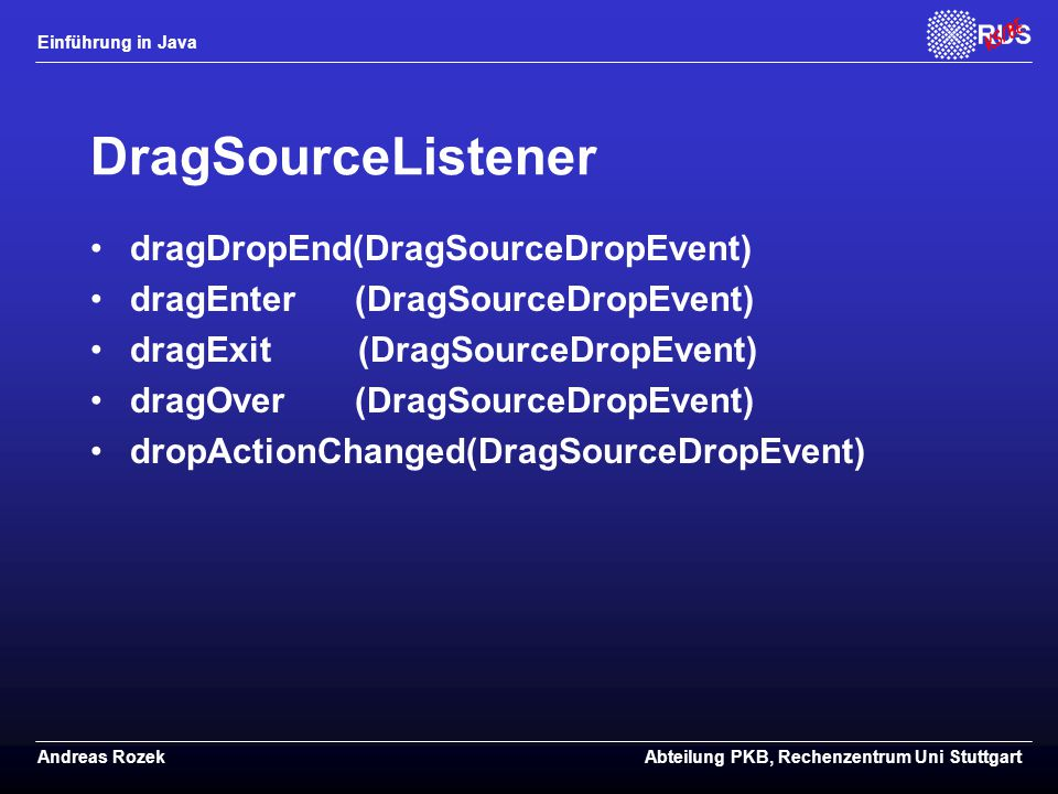 DragSourceListener dragDropEnd(DragSourceDropEvent)