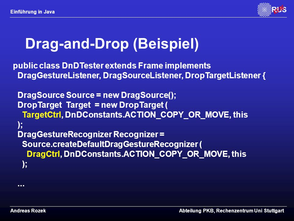 Drag-and-Drop (Beispiel)
