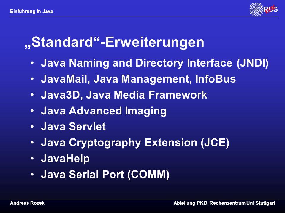 """""""Standard -Erweiterungen"""