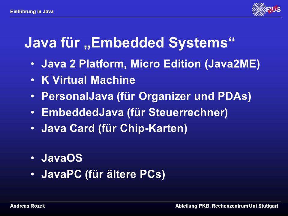 "Java für ""Embedded Systems"